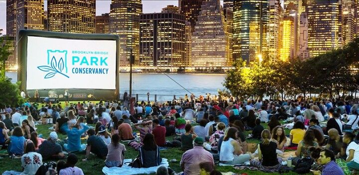 Movies at the Brooklyn Bridge